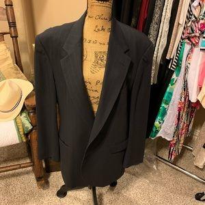 Vintage Classic Men's black wool suit